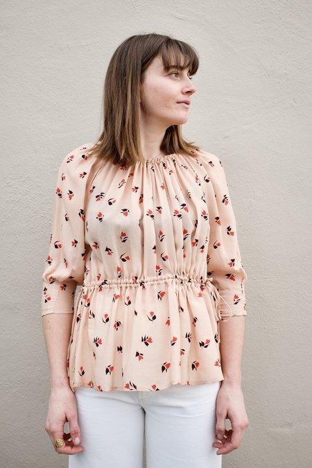 Caron Callahan Judith Blouse - Peach Floral