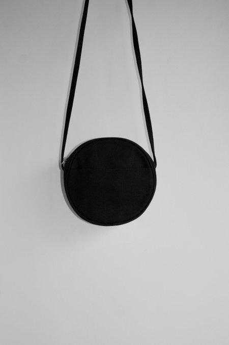 BAGGU Small Canvas Circle Purse - Black