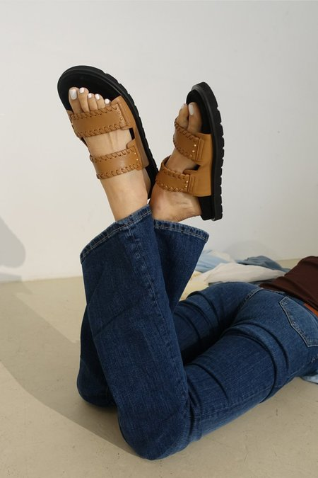 Reike Nen Turnover Mold Slippers - Camel