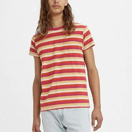 Levi's Vintage Clothing 1950s Sportswear Tee - Red Stripe