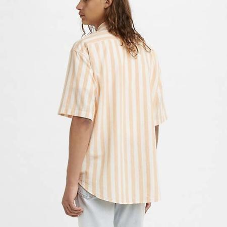 Levi's Vintage Clothing Diamond Shirt - Melon Orange/White