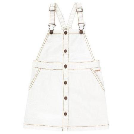 Kids Tinycottons Denim Dress - Off White
