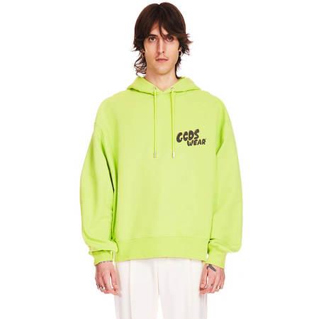 GCDS Logo hoodie - green