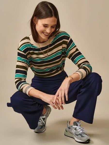 Bellerose Senia Stripe Top - Blue/Khaki