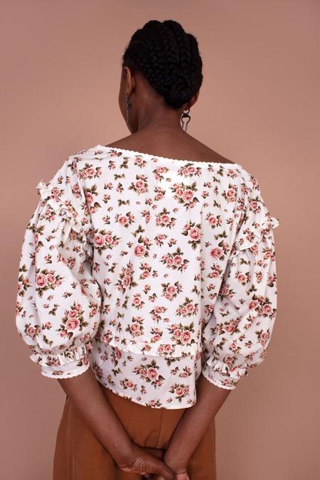 Daphne Roses Top - cream