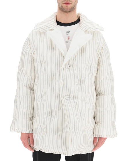 Maison Margiela Striped Down Jacket