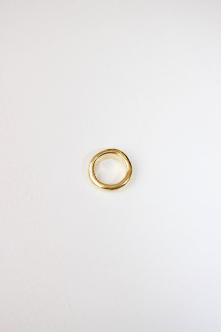 Unisex Swim To The Moon Eau Ring - 14k Gold Plated