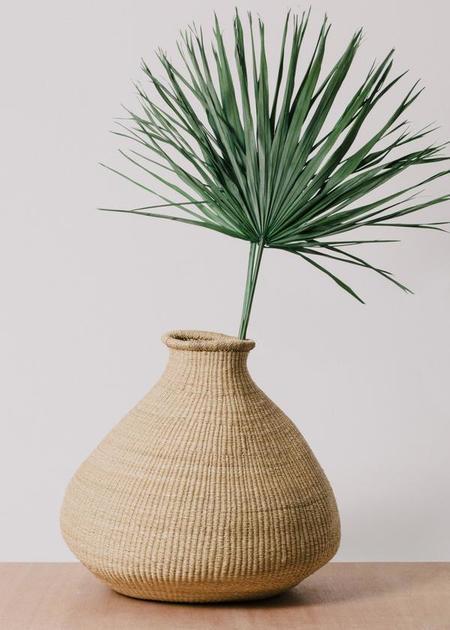 Kazi Goods Oversized Natural Grass Bud Vase