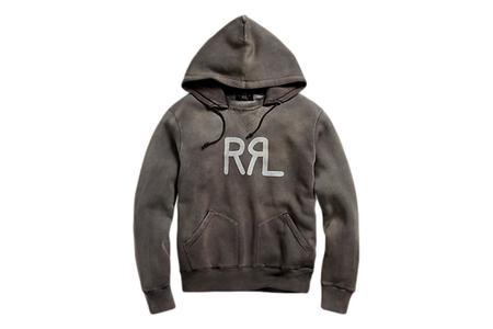 RRL Fleece Hoodie - Faded Black