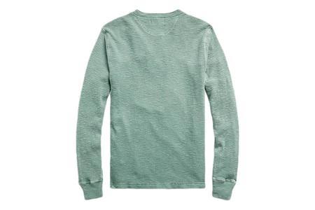 RRL Waffle-Knit Henley Shirt - Spring Green