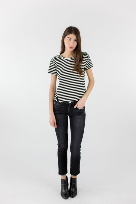 AMO Twist Tee - Seaton Stripe