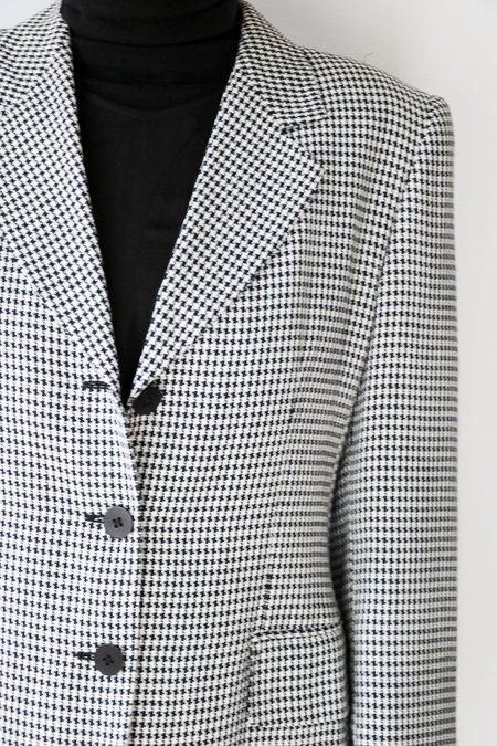 vintage Missoni Donna Vintage Houndstooth Blazer - Black/White