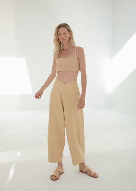 Monica Cordera V Ramie Pants - Wheat