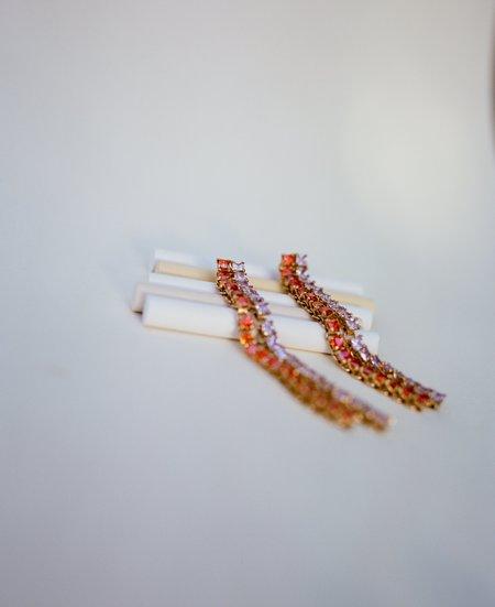 Jasmin Sparrow Peach Earrings - Gold