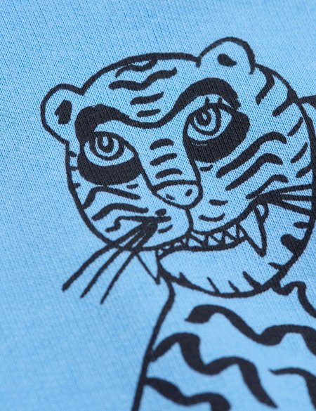 kids Mini Rodini Tiger Sweatshirt - Blue