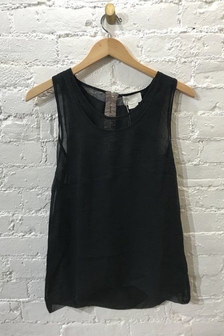 M.PATMOS Silk Layered Shell Top - black