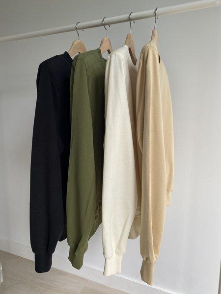 Parentezi Crew Neck Sweater With Removable Shoulder Pad - Caramel