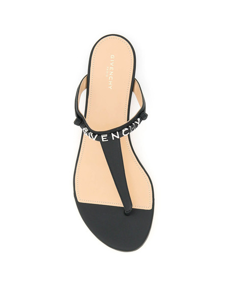 Givenchy Logo Lettering Thong Mules