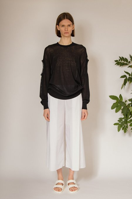 Oyuna Meyr Knitted Triple Neck Pullover - Panther
