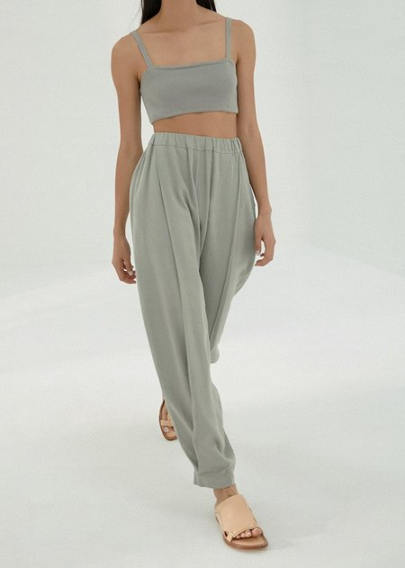 Monica Cordera Ballon Linen Pants - Silver Blue