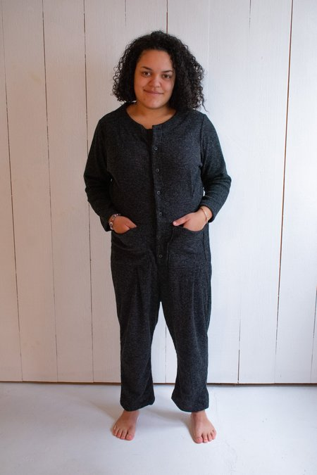 Conrado Emily Ribbed Sweater Coveralls - Dark Grey