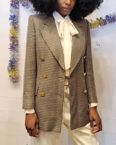 Vintage Escada Shimmer Tweed Blazer - Gold Sparkle