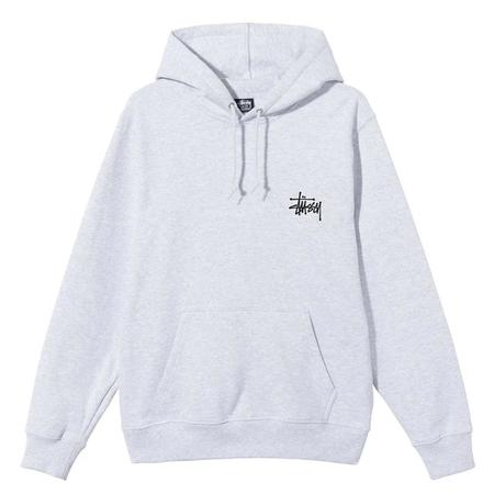 Stussy Basic Hood Sweater - Ash Heather