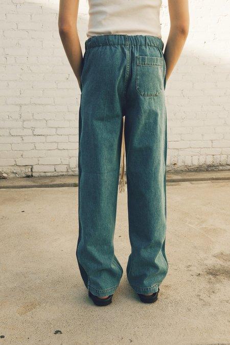 LOEWE Indigo Stripe Drawstring Jeans - Light Blue