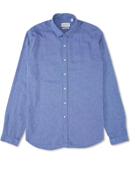 Oliver Spencer Clerkenwell Tab Shirt - Whipsnade Blue