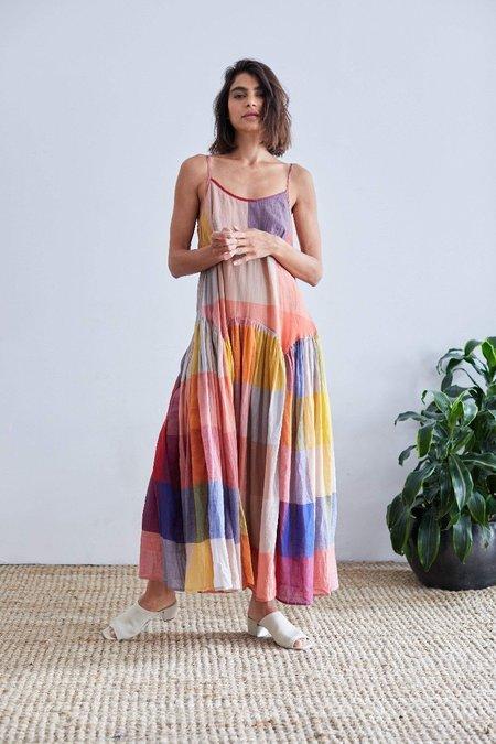 RUJUTA SHETH Leila Slip Dress - dusk multi