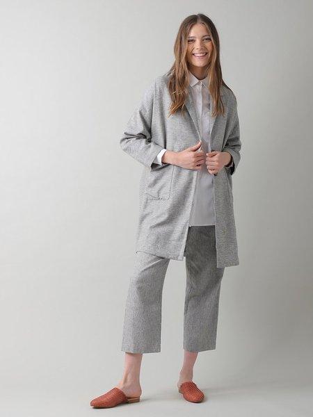 Indi & Cold Oversized Linen Jacket - Piedra