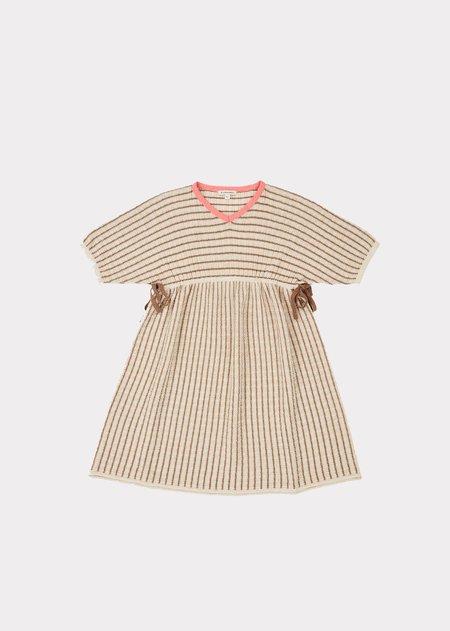 kids Caramel Jellyfish Dress - Natural Stripe