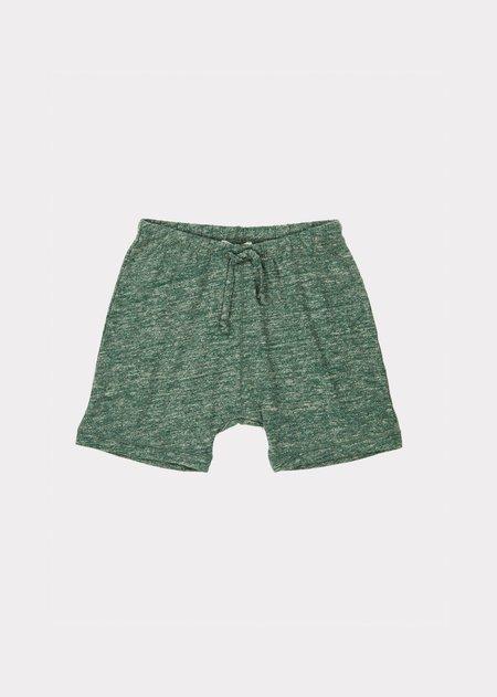 kids Caramel Piranha Shorts - Green Melange