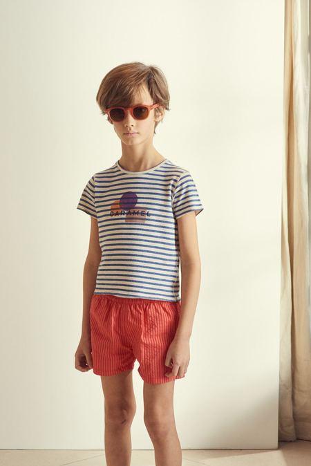 kids Caramel Tang Swimshort - Red Stripe