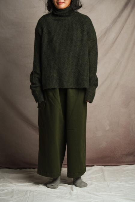 Unisex Mónica Cordera Chunky Cotton Pocket Pants -  Green
