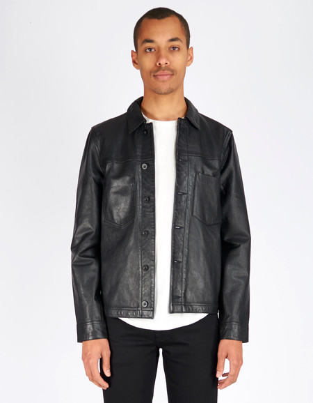Men's Nudie Ronny Leather Jacket Black
