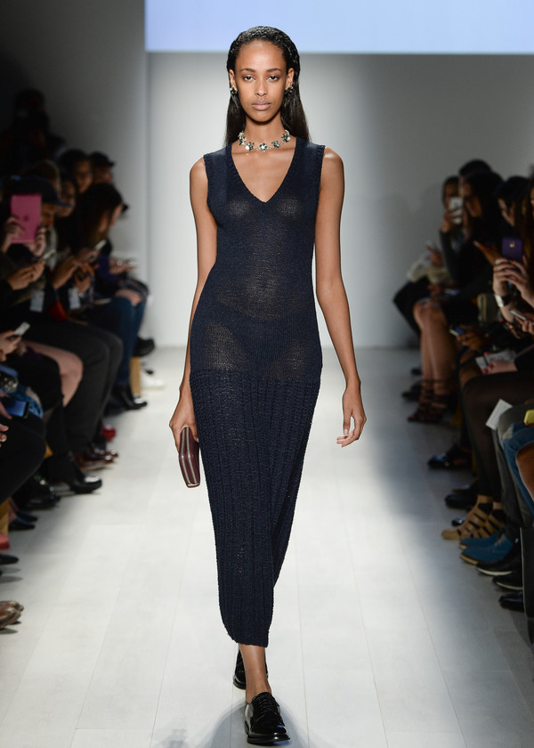 Malorie Urbanovitch Hand Knit Drop Waist Dress