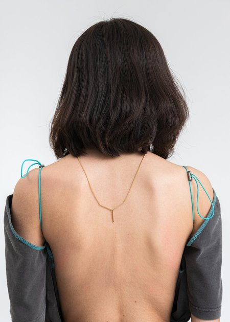 Y/project Mini Y Necklace - brass