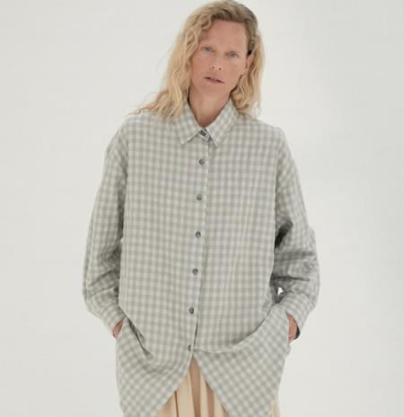 Mónica Cordera Checkered Shirt - Silver Blue