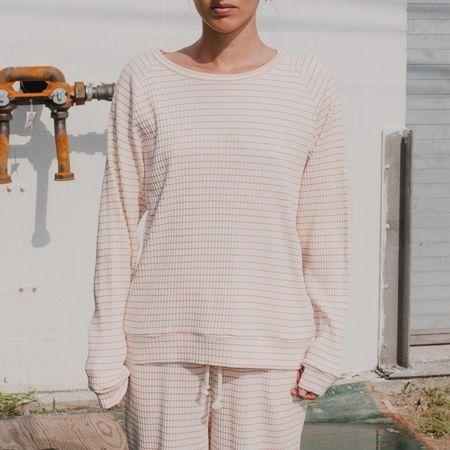 Baserange Basic Sweatshirt - Red/White Stripe