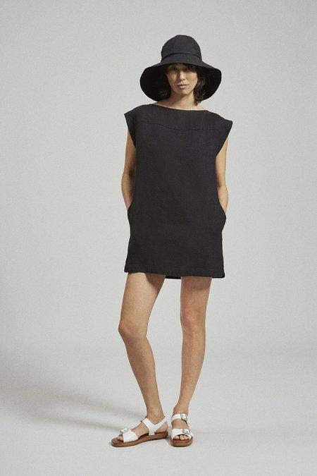 Rachel Comey Frankfurt Mini Dress - Black Linen