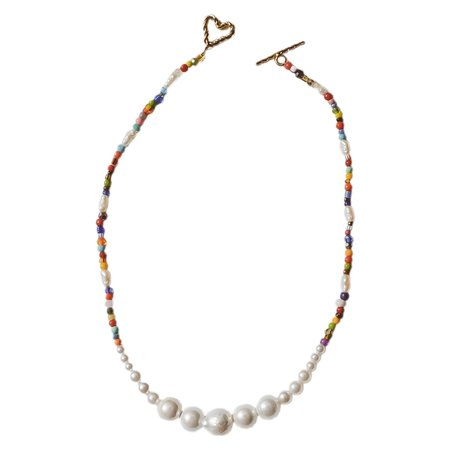 Luiny SIMPLE PEARLS NECKLACE - MULTICOLOR
