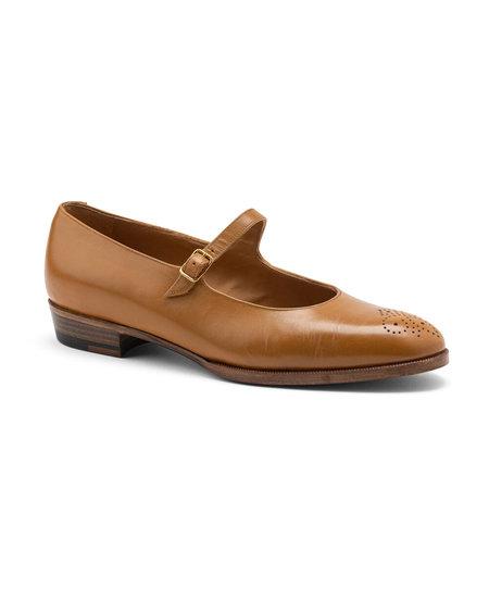 Officina del Poggio Essentials Classic Mary Jane - Honey Leather
