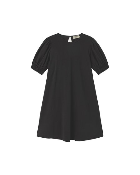 Thinking MU Vestido Floreta - Black