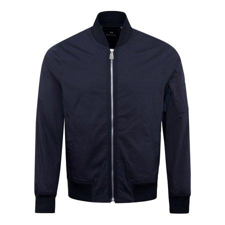 PAUL SMITH Cotton Bomber Jacket - Navy
