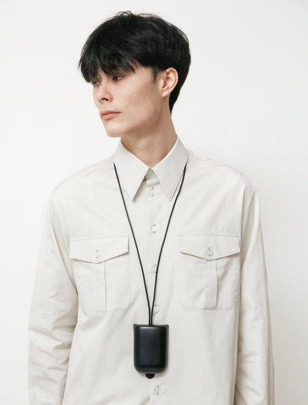 Lemaire Molded Leather Cigarette Holdern - Black