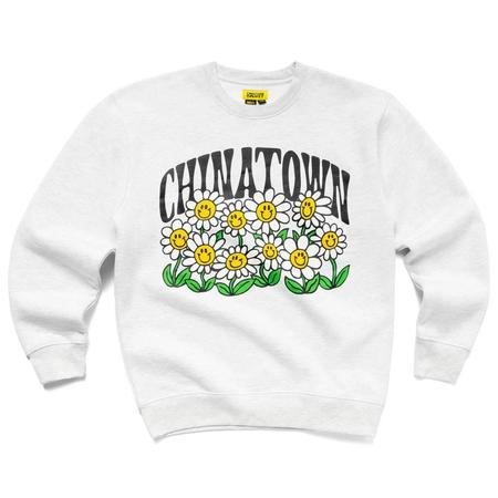 Chinatown Market Smiley Flower Power Crewneck sweater - Ash Gray