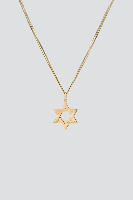 Miansai Star of David Pendant Necklace - Gold Vermeil