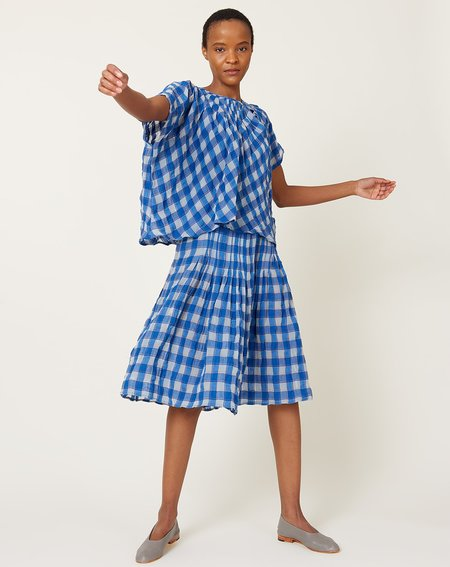 Caron Callahan Maartje Dress - Royal Gauze Plaid