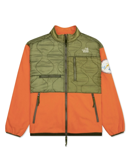 Readymade Orange & Green Fleece Jacket